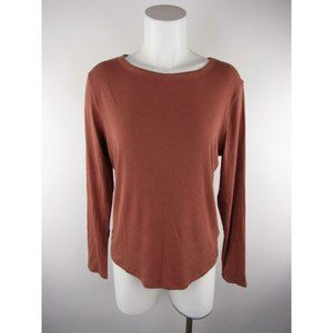 A New Day Solid Long Sleeve Ribbed Scoop Knit Top